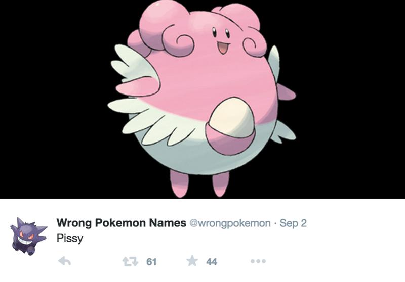 Cartoon - Wrong Pokemon Names @wrongpokemon Sep 2 Pissy 44 t61
