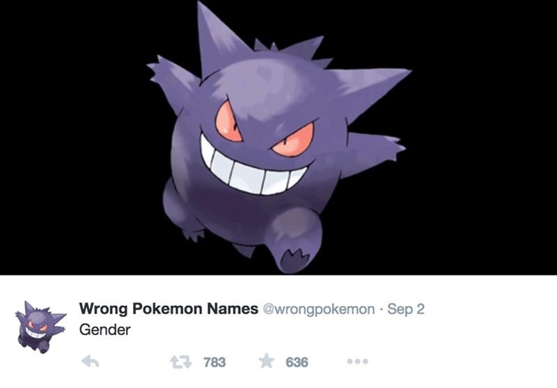 Cartoon - Wrong Pokemon Names @wrongpokemon Sep 2 Gender 1783 636