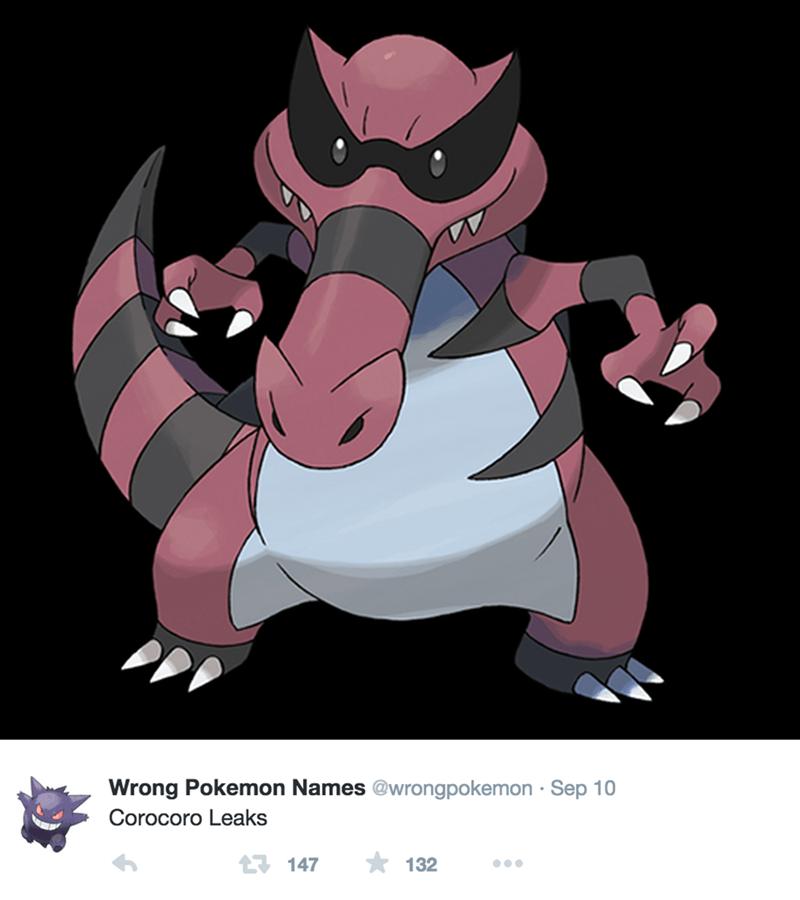 Cartoon - Wrong Pokemon Names @wrongpokemon Sep 10 Corocoro Leaks 132 17 147