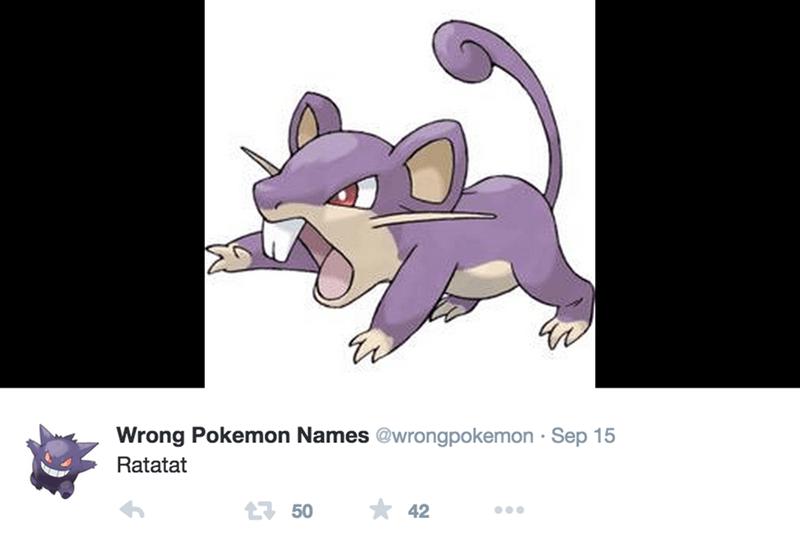 Cartoon - Wrong Pokemon Names @wrongpokemon Sep 15 Ratatat 50 42