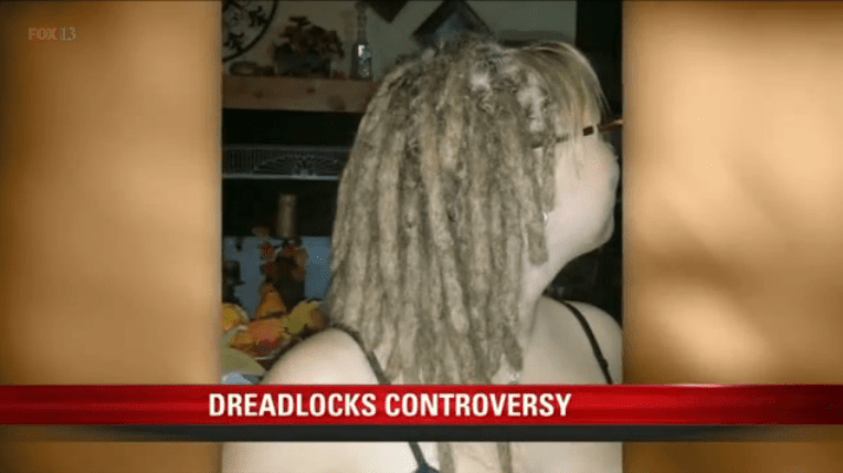 White dreaded girl calls racial discrimination on school that can't stand her hair.