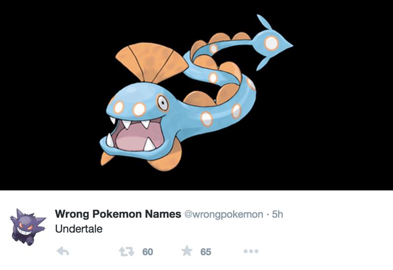 Cartoon - Wrong Pokemon Names @wrongpokemon 5h Undertale 160 65