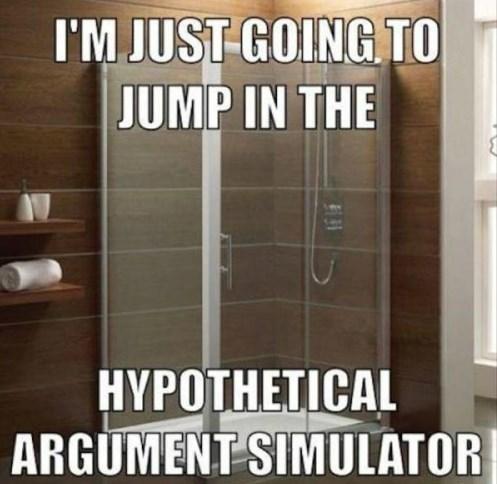 funny memes shower argument simulator