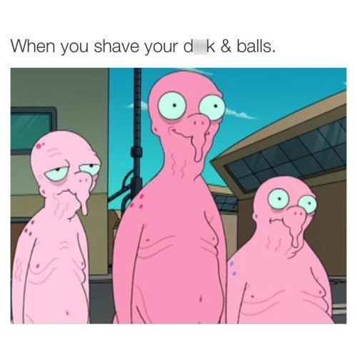 cartoon memes when you shave