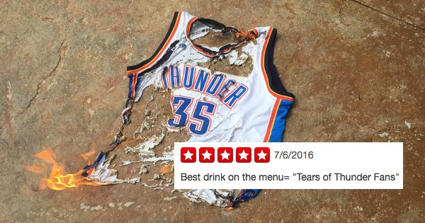 thunder fans trolling kevin durant