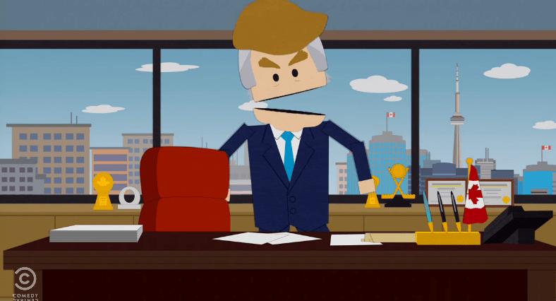 South Park killed Donal Trump Last Night