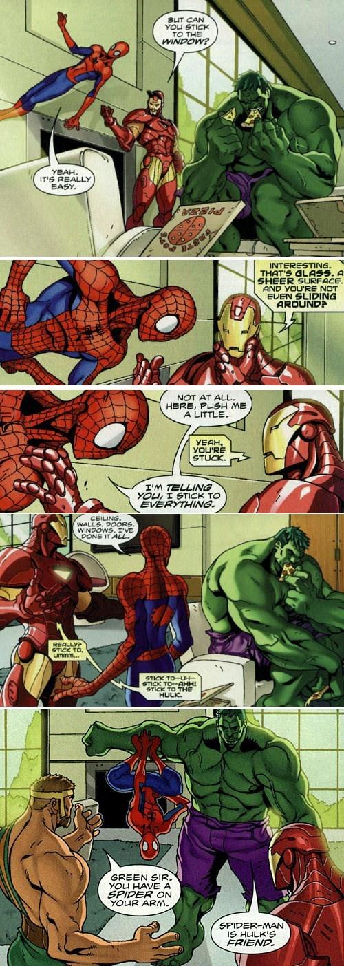 superheroes-spider-man-marvel-sticks-to-everything-meme
