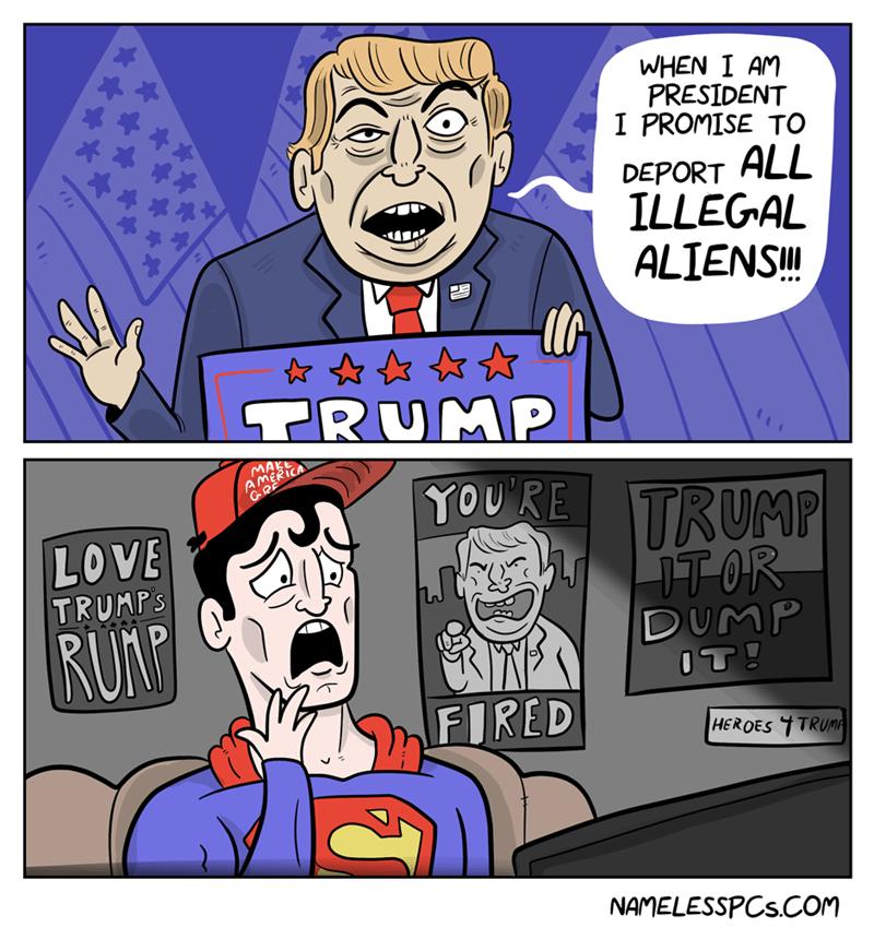 Another Downside To Trump S Immigration Plan Web Comics 4koma Comic Strip Webcomics Web Comics