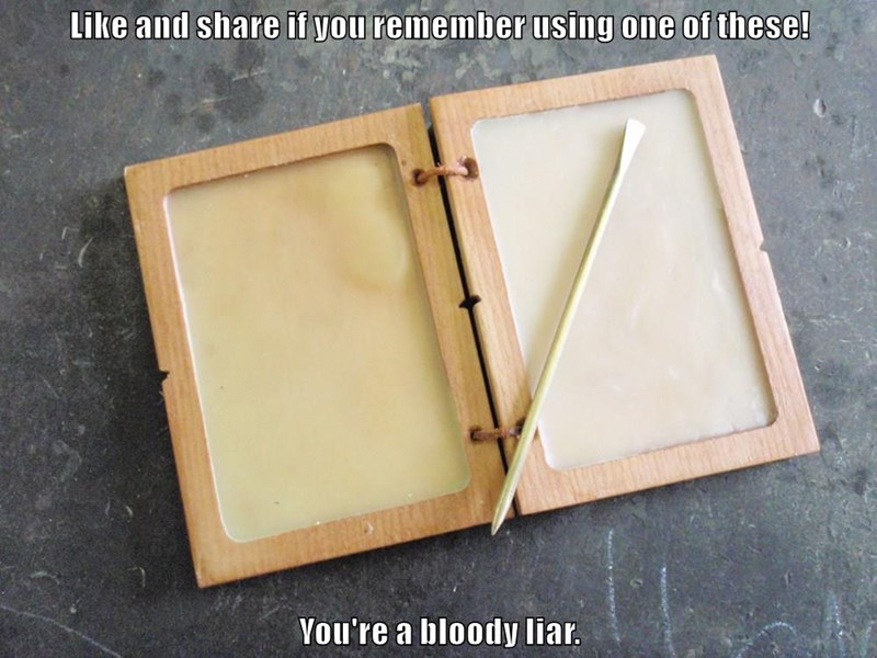 Like and share if you remember using one of these!   You're a bloody liar.