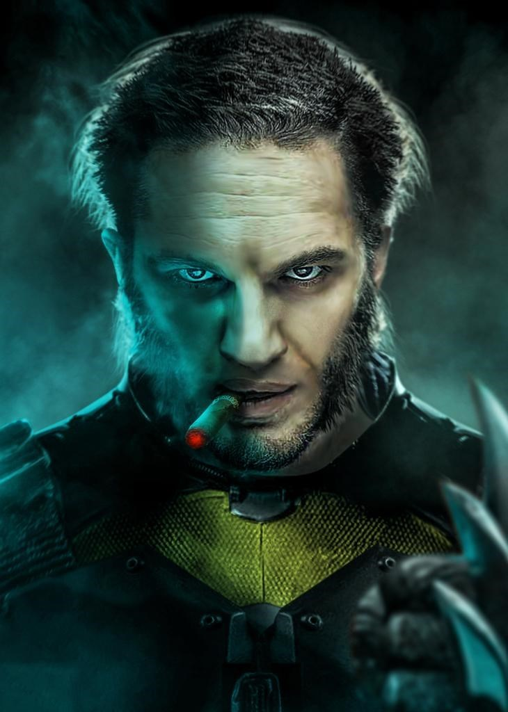 superheroes-tom-hardy-as-wolverine-fan-art-marvel