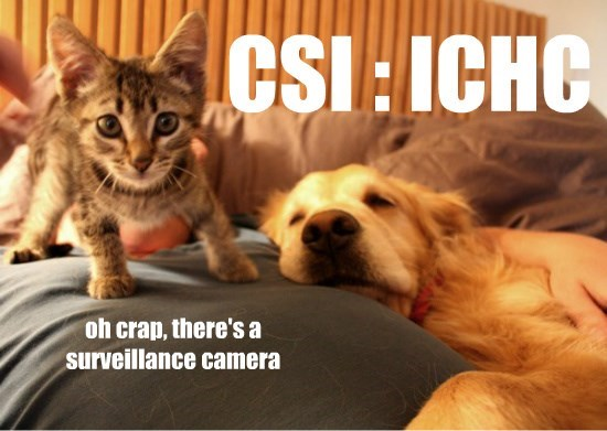 lolcats - Photo caption - CSI: ICHC oh crap, there's a surveillance camera