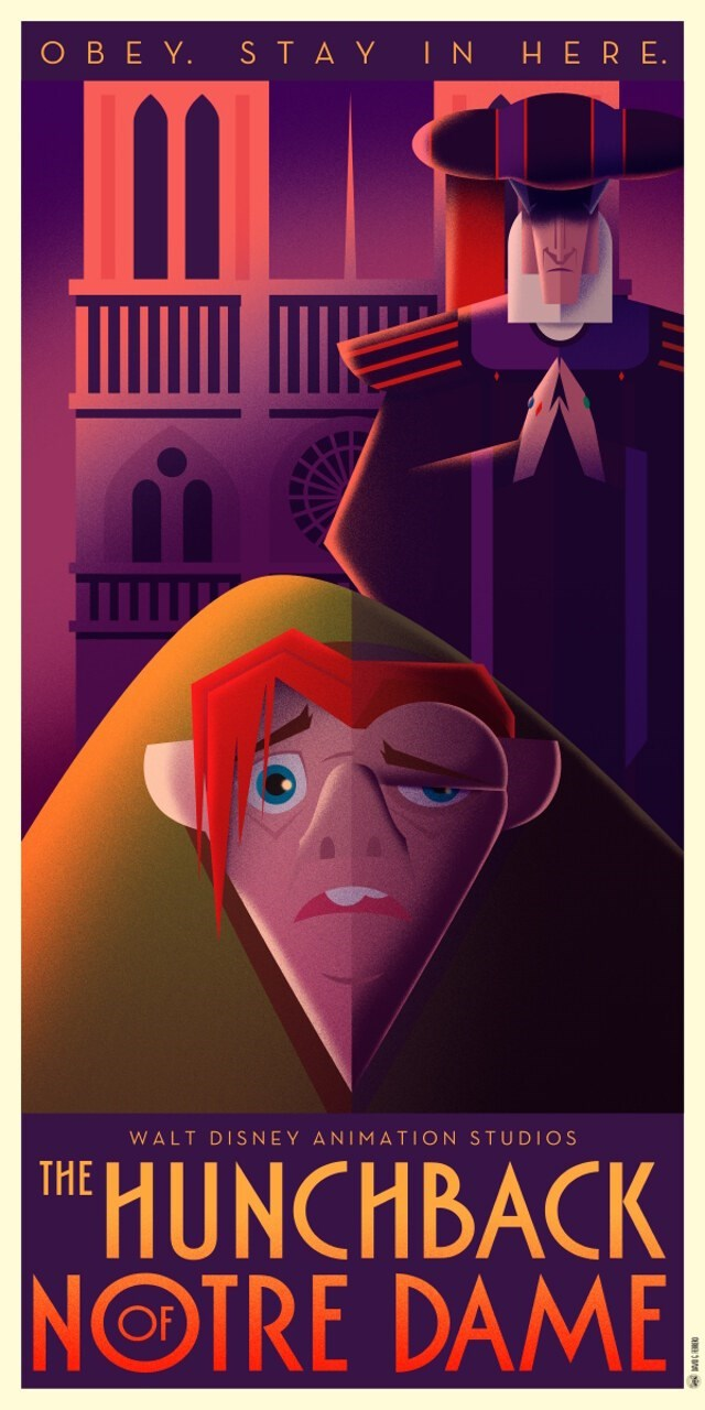 Poster - OBEY. STAY INHERE WALT DISNEY ANIMATION STUDIOS THE HUNCHBACK NOTRE DAME