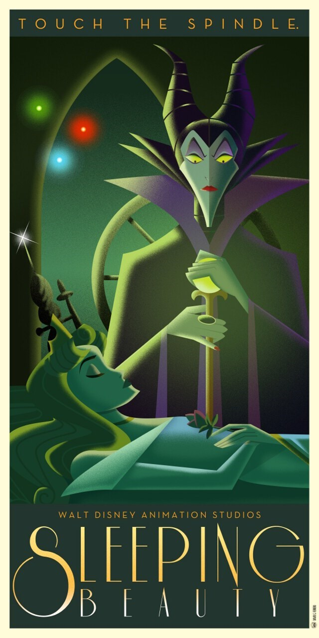 Poster - S PIND L E TOUCH тHE WALT DISNEY ANIMATION STUDIOS SLEEPING BEAUIY