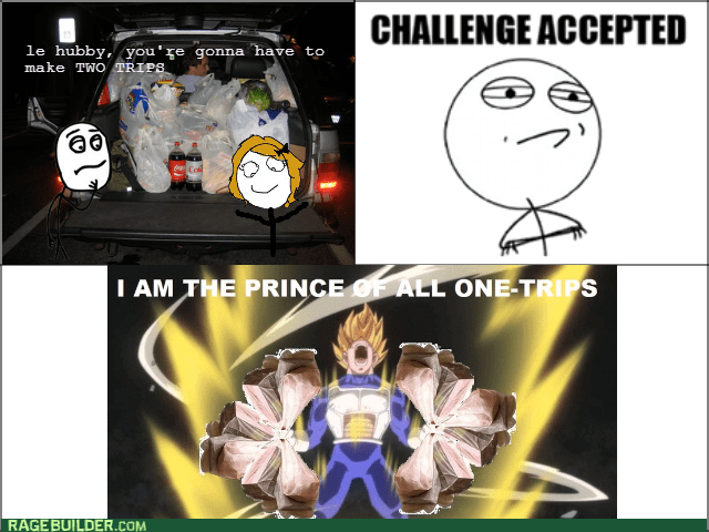 Challenge Accepted Dragon Ball Z groceries - 8568916736