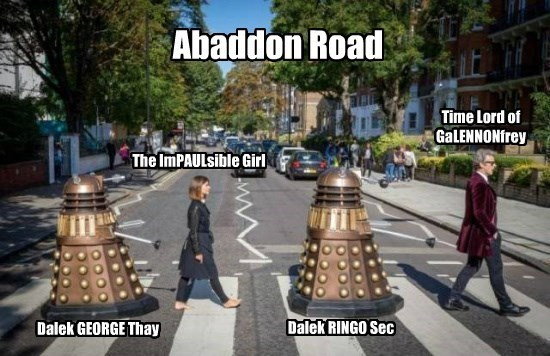 the Beatles puns doctor who - 8568951040