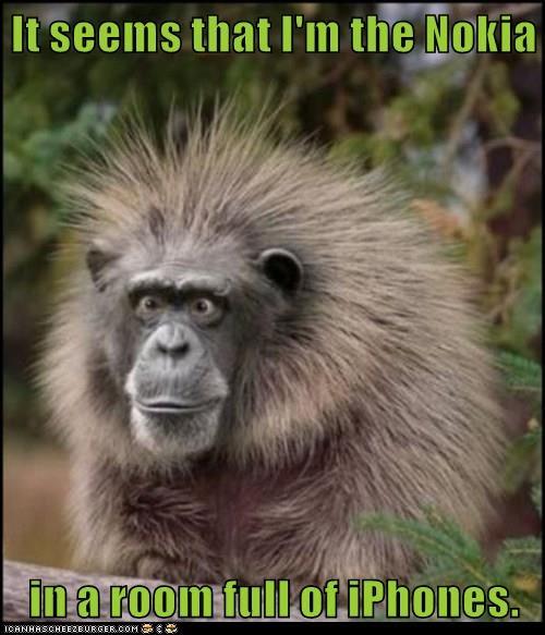 animals smart phones monkey funny iphone - 8569377536