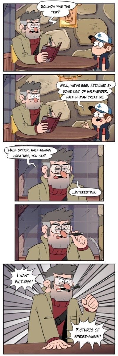 Gravity Falls Meets Spider-Man