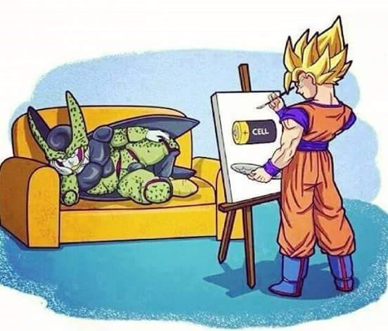 cell anime Fan Art Dragon Ball Z - 8569546240