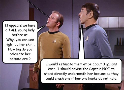 Proof that the Men of the Enterprise look up to the women onboard.