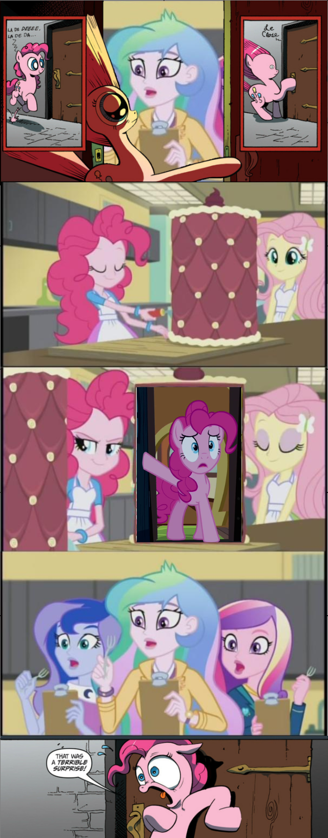 terrible surprise,4th wall,pinkie pie,friendship games