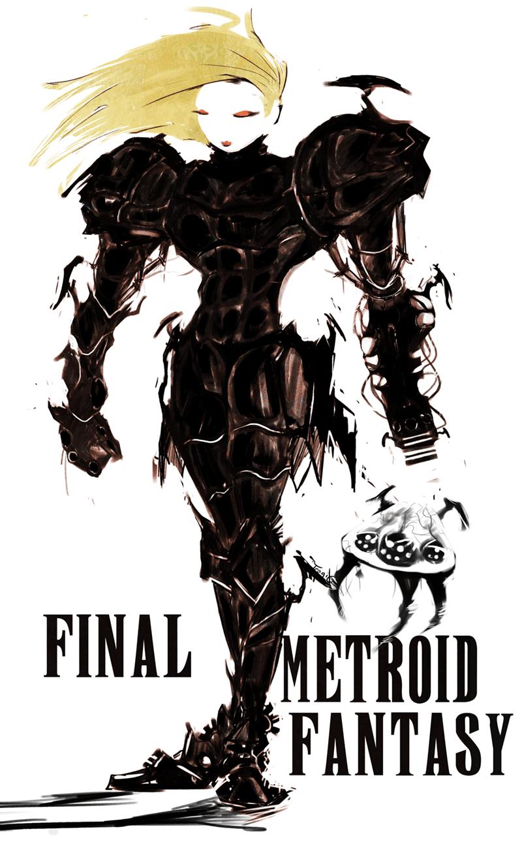 samus art final fantasy Metroid yoshitaka amano samus aran - 8569778944