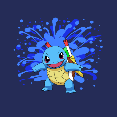 pokemon memes squirtle squirt guns t shirt