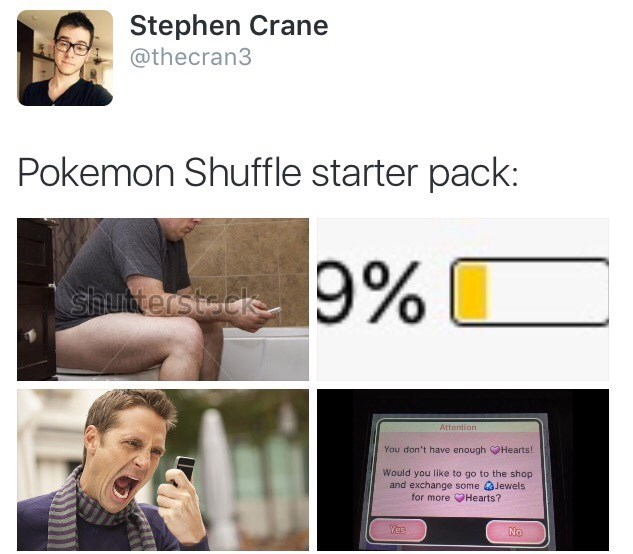 pokemon memes shuffle starter pack