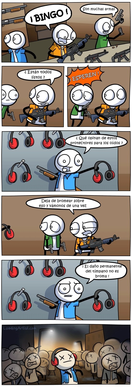 sacar las armas