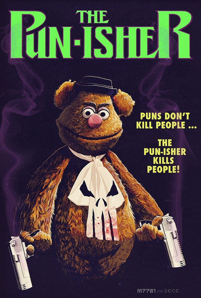 superheroes-punisher-fozzie-bear-fan-art-marvel
