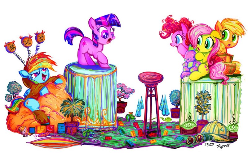 applejack twilight sparkle pinkie pie fluttershy rainbow dash - 8570260992