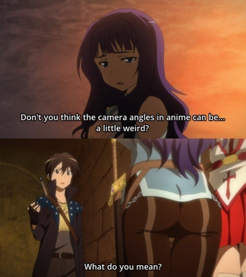 anime memes weird camera angles