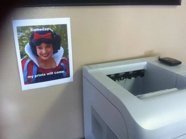 snow white,puns,printer
