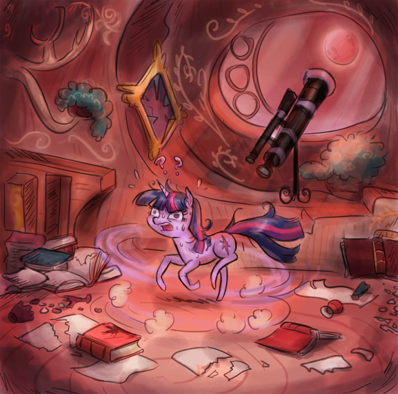 Fan Art twilight sparkle blood moon - 8570378496