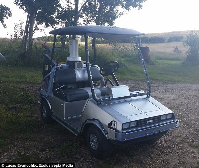 Back to the Future DeLorean golf cart.