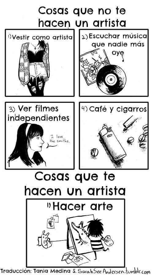 ser un artista