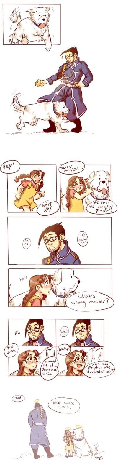 anime memes maes hughes nina alexander in heaven