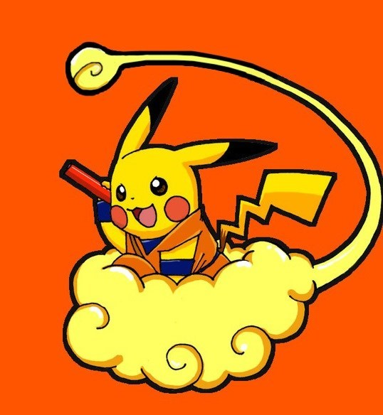 crossover,Dragon Ball Z,pikachu