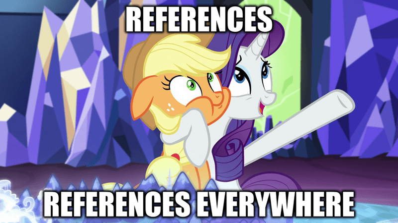 applejack,toy story,rarity,references