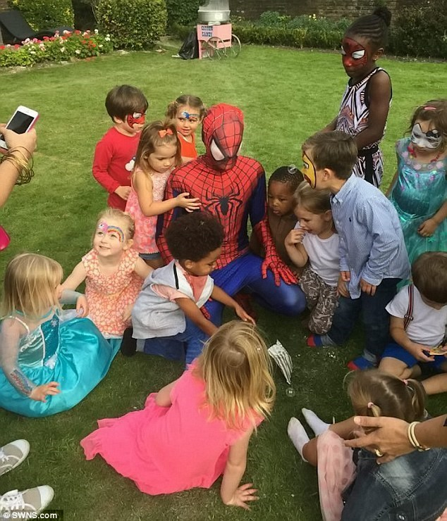 Spider man pulled a family out of a burning car on the way to reattach a finger.