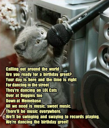 Happity Bippity Birfday plaidcats!