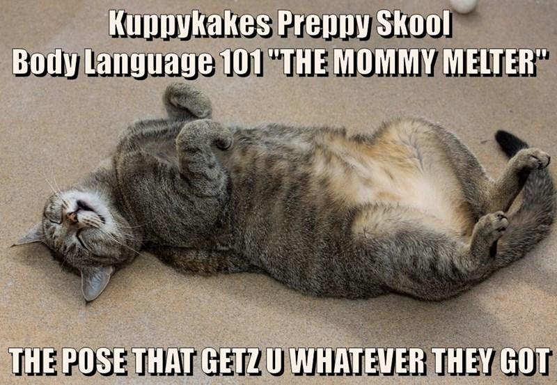 "Kuppykakes Preppy Skool                                   Body Language 101 ""THE MOMMY MELTER""  THE POSE THAT GETZ U WHATEVER THEY GOT"