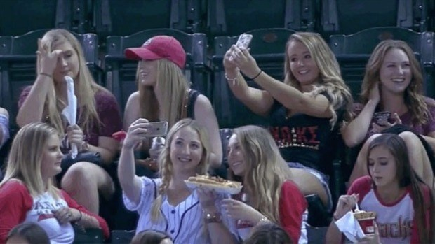 Mockery can't take the class out of this sorority after MLB announcers notice their selfies.