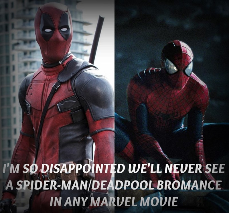 superheroes-deadpool-spider-man-marvel-we-will-never-see-a-bromance-meme
