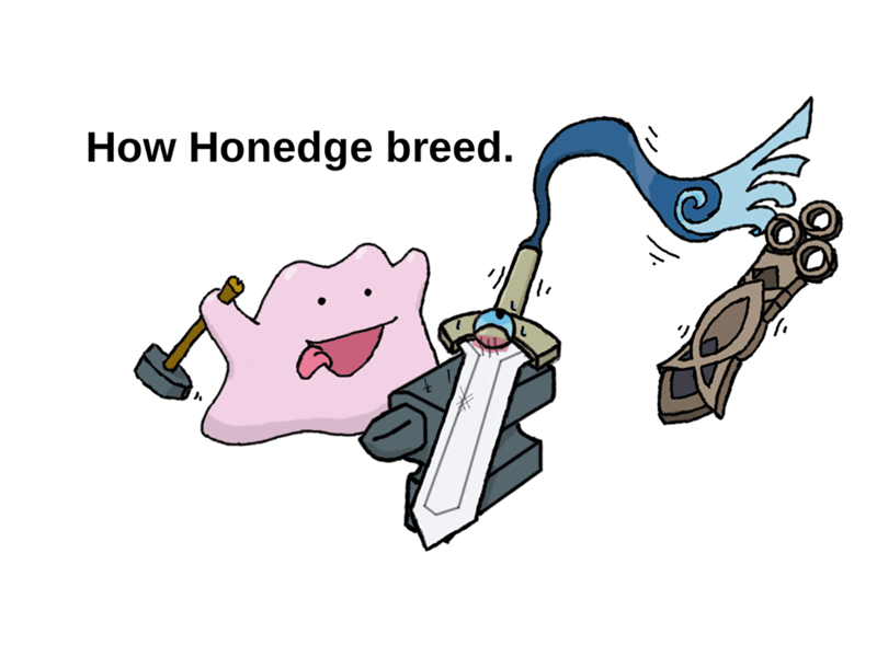 pokemon memes honedge breeding