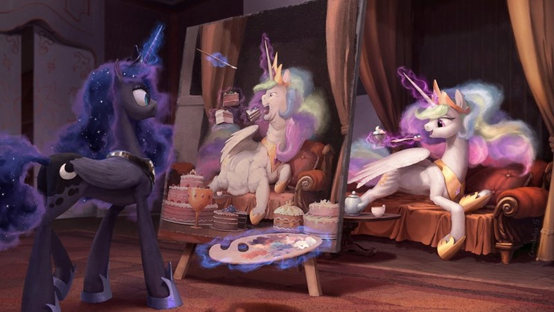 princess luna princess celestia let them eat cake - 8571654656