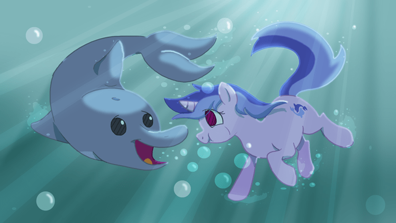 dolphin Fan Art MLP - 8571880448