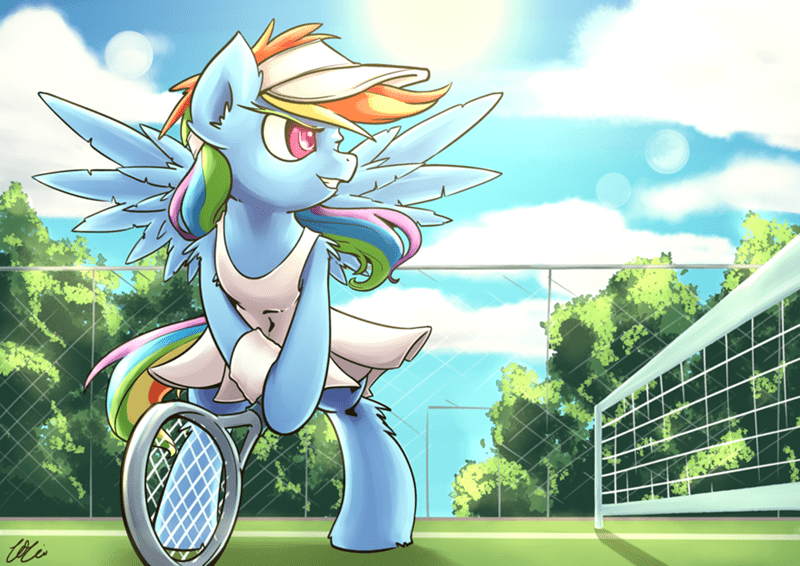 MLP tennis rainbow dash - 8571908352