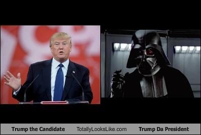 Trump the Candidate Totally Looks Like Trump Da President