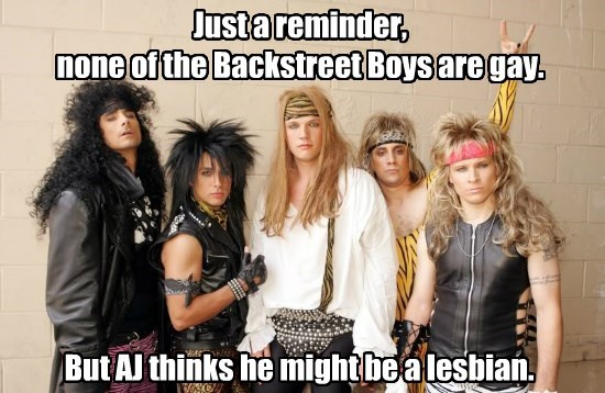 Just a reminder, none of the Backstreet Boys are gay.
