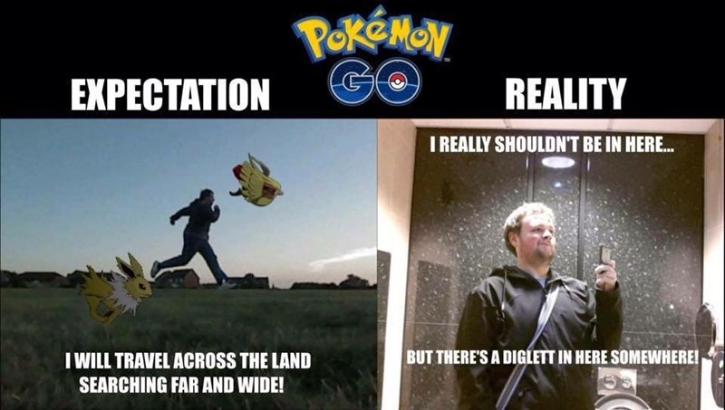 pokemon memes go expectation vs reality